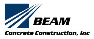 Beam Concrete Construction Logo
