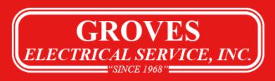Groves Electrical Service Logo