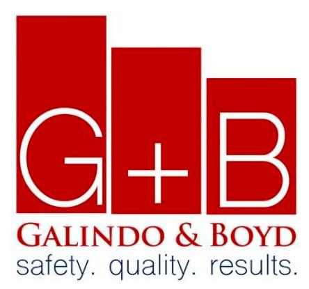 Galindo & Boyd Wall Systems Logo