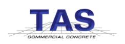 TAS Commercial Concrete Logo